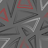Seamless pattern with different triangles royalty free illustration