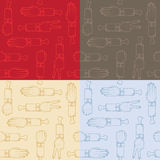 Seamless pattern. With different types of sign stock illustration