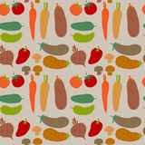 Seamless pattern with different vegetables Stock Image