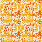 Seamless pattern with different yellow leafs. On white background royalty free illustration