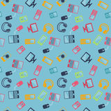 Seamless pattern of digital devices Royalty Free Stock Photography