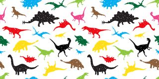 Seamless Pattern dino dinosaur vector isolated wallpaper background colorful. Seamless Pattern dino dinosaur vector isolated wallpaper tile background colorful vector illustration