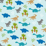 Seamless pattern with dinosaurs. Royalty Free Stock Photography