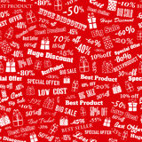 Seamless pattern on discounts and special offers Stock Photo