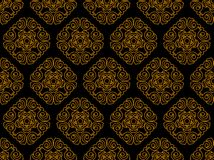 Seamless pattern for disign. Seamless ornament vector pattern for disign. Wallpaper stock illustration