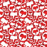 Seamless pattern with dislike signs Stock Photos