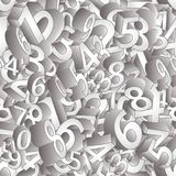 Seamless pattern 3Dnumbers , vector Royalty Free Stock Photo