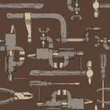 Seamless pattern with do it yourself tools Stock Photos