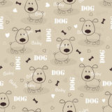 Seamless pattern with dog Stock Image