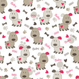 Seamless pattern with dog Stock Photos