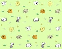 Seamless pattern with dog heads on cute background vector illustration