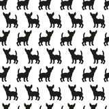 Seamless pattern with dog silhouettes. Royalty Free Stock Photography