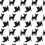 Seamless pattern with dog silhouettes. Royalty Free Stock Photo
