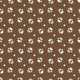 Seamless pattern with dog tracks Animal background. Seamless pattern with dog tracks. Animal background. Design for card, announcement, advertisement, banner or royalty free illustration