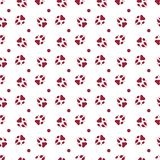 Seamless pattern with dog tracks Animal background. Seamless pattern with dog tracks. Animal background. Design for card, announcement, advertisement, banner or stock illustration