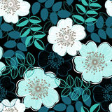 Seamless  pattern with a dogrose. Hand-drawn abstract flor Royalty Free Stock Images