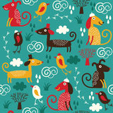 Seamless pattern with dogs Royalty Free Stock Photo