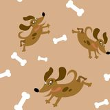 Seamless pattern with dogs Stock Photography