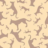 Seamless pattern with dogs Royalty Free Stock Photos