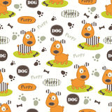 Seamless pattern with dogs Stock Image