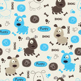 Seamless pattern with dogs Stock Images