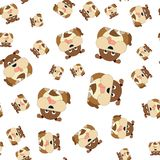 Seamless pattern of dogs vector illustration