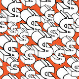 Seamless pattern dollar sign Stock Photo