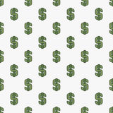 Seamless pattern with dollar sign Royalty Free Stock Photo