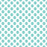 Seamless pattern with dollar sign. Repeating currency symbol bac Royalty Free Stock Photo