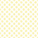 Seamless pattern with dollar sign. Repeating currency symbol bac Royalty Free Stock Image