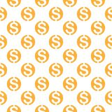 Seamless pattern with dollar sign. Repeating currency symbol bac Royalty Free Stock Photos