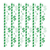 Seamless pattern with dollars Royalty Free Stock Image