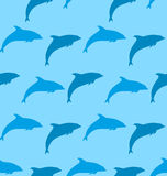 Seamless Pattern with Dolphin, Marine Mammal Animal Stock Photography