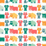 Seamless pattern with domestic animals Stock Images