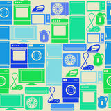 Seamless pattern with domestic appliances Stock Photography