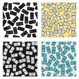 Seamless pattern of domino Royalty Free Stock Photos
