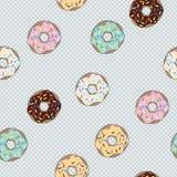 Seamless pattern donut with glaze. Background with cakes. Vector. Seamless pattern donut with glaze. Background with cakes. Vector illustration Stock Photos