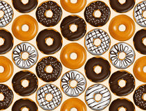 Seamless pattern of donuts. Donut pattern vector. Royalty Free Stock Images