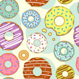 Seamless pattern with donuts Stock Photography