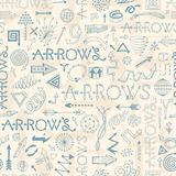 Seamless pattern with doodle arrows Royalty Free Stock Photography