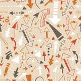 Seamless pattern of doodle arrows, pointers Royalty Free Stock Images