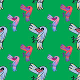 Seamless pattern of doodle cartoon Stock Image