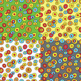 Seamless pattern with doodle cicrles Royalty Free Stock Photography