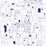 Seamless pattern. Doodle design for cloth, paper, cards, greetings, scrapbook. Royalty Free Stock Photo