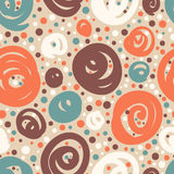 Seamless pattern with doodle dots. Stock Photography