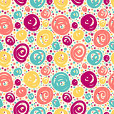 Seamless pattern with doodle dots. Royalty Free Stock Photo
