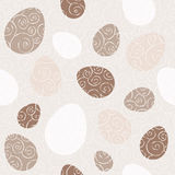 Seamless pattern with doodle easter eggs. Stock Photos