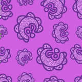 Seamless pattern. Doodle elements on pink background. Ornaments Stock Photos