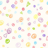 Seamless pattern with doodle of felt-tip pen Stock Photo
