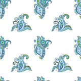 Seamless pattern with doodle floral elements Royalty Free Stock Photography